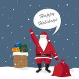 Santa claus gives gifts Stock Photos
