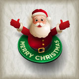Santa Claus giving a big hug Stock Image