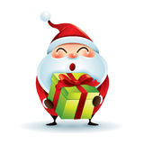Santa Claus Giving Christmas Present vector illustratie