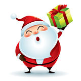 Santa Claus Giving Christmas Present royalty-vrije illustratie