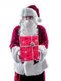 Santa claus giving gifts isolated Royalty Free Stock Photos