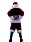 Santa claus giving gifts isolated Stock Photography