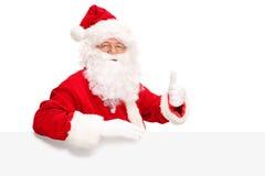 Santa Claus giving a thumb up Royalty Free Stock Image