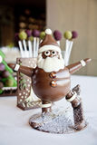 Santa Claus gjorde choklad Arkivbild
