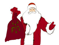 Santa Claus. Glad Santa for Christmas and New Year decoration Stock Photo