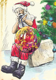 Santa Claus - glassblower Stock Photo