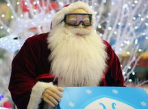Santa Claus with glasses. Christmas. Santa Claus with glasses. Merry christmas happy new year stock photos