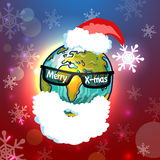 Santa Claus globe. Vector illustration for Your design, eps10 Royalty Free Stock Photo