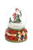 Santa claus globu śnieg Zdjęcia Royalty Free