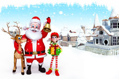 Santa claus with golden jingle Royalty Free Stock Photo