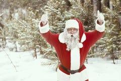 Santa Claus in a good mood Stock Image