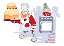 Santa Claus Gourmet Chef linda Fotos de archivo libres de regalías