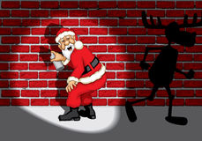 Santa Claus Graffiti Royalty Free Stock Images