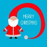 Santa Claus. Grande cappello. Carta di Buon Natale. Immagine Stock