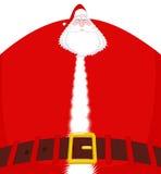 Santa Claus grande e correia Avô enorme do Natal enorme ilustração stock