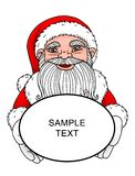 Santa Claus - Greeting. Santa Claus holding text baloon Royalty Free Stock Images