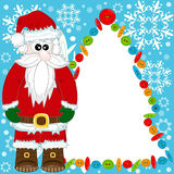 Santa Claus greeting card Royalty Free Stock Photos