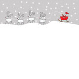 Santa Claus Greeting Card stock de ilustración