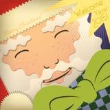 Santa Claus Greeting Card Stock Photos