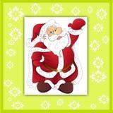 Santa claus greeting card - 2 Stock Image