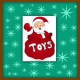 Santa claus greeting card Royalty Free Stock Photos