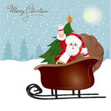 Santa Claus, greeting card design Stock Photography