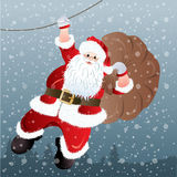 Santa Claus, greeting card design Stock Photos