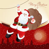 Santa Claus, greeting card design Royalty Free Stock Images