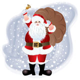 Santa Claus, greeting card design Stock Image