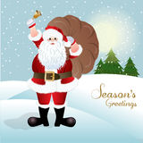 Santa Claus, greeting card design Royalty Free Stock Photography