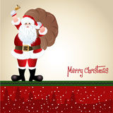 Santa Claus, greeting card design Stock Photo
