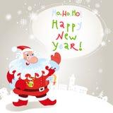 Santa claus greeting card 10eps Stock Images