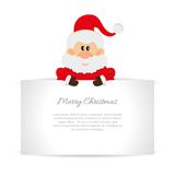 Santa Claus Greeting card with space for text Royalty Free Stock Images