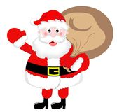 Santa Claus Greeting with Sack Stock Images