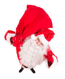 Santa Claus greeting with a sack Stock Image