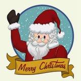 Santa Claus Greeting, Vector Illustration royalty free stock photo
