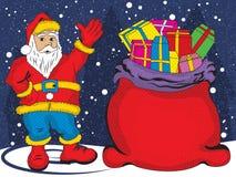 Santa Claus greeting Royalty Free Stock Images