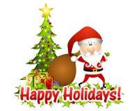 Santa Claus Greetings Stock Photography