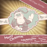 Santa Claus greetings in different languages. Royalty Free Stock Photos