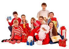 Santa Claus with a group of children Royalty Free Stock Image