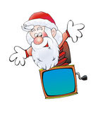 Santa Claus gubben i lådan Arkivbild