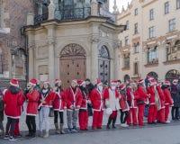 Santa Claus Guinness rekord Royaltyfria Foton