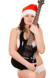 Santa claus with guitar Stock Photo