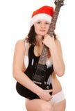 Santa claus with guitar Stock Photo