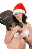 Santa claus with guitar Royalty Free Stock Photo