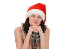 Santa claus with guitar Royalty Free Stock Images