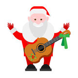 Santa Claus with a guitar Royalty Free Stock Photos