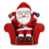 Santa Claus hängande sitta på en sofa Royaltyfri Fotografi