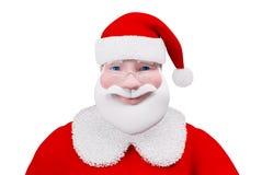 Santa Claus ha isolato la rappresentazione 3d illustrazione vettoriale