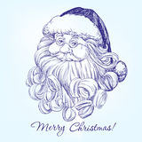 Santa Claus hand drawn vector Royalty Free Stock Images